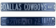 Dallas Cowboys Ave Licensed Authentic Steel 36x6 Navy & Silver NFL Street Sign
