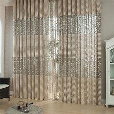 Moderne Zimmer Voile Tüll Vorhang Fadenvorhang Fenstervorhang Türvorhang Gardine