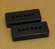 PC-0746-023 (2) Black Soapbar P-90 Guitar Pickup Covers