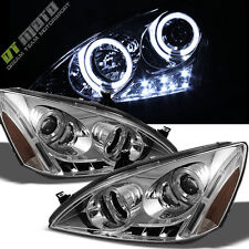 2003-2007 Honda Accord LED Halo Projector Headlights Headlamps 03-07 Left+Right
