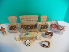 Miniature Doll House Furniture Wicker Outdoor Set Vintage / Antique