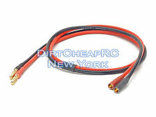 DC Power Cable Extension 2ft 14AWG 4mm Male to Female Bullet/Banana LiPo Charger