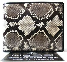 Genuine Real Python Snake Leather Men's Bifold Wallet Natural Rare Grade A New