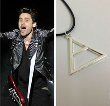 30 Seconds To Mars Silver Triangle Geometric Pendant Necklace Rope Chain Fashion