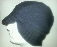 Wool Cycling cap for winter  one size brand new color black  lines 100% handmade