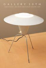 RARE! MID CENTURY MODERN GIO PONTI SAUCER LAMP! White UFO 1950s Atomic Eames VTG