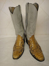 Snakeskin Western Boots ~ Size 8 - 8.5 ~ Custom Made Python Cowboy Boots