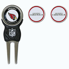 Arizona Cardinals NFL Team Golf Divot Tool with 3 Magnetic Ball Markers