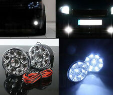 2*Car 9 LED 12V Circle Daytime Running Driving Light DRL Round FOG Work Lamp SUV