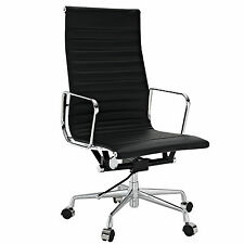 eMod Eames Style Office Chair High Back Replica Reproduction Black Leather