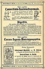 G. Henke Berlin APOTHEKER ZENTRAL- DEPOT Historische Reklame von 1905