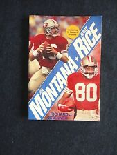 NFL Memorabilia Joe Montana Jerry Rice Book San Francisco 49ers Brenner 1990