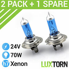 H7 XENON SUPER WHITE 70W 24V MERCEDES HEADLAMP HEADLIGHT BULBS DIPPED MAIN BEAM