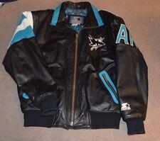 Vtg San Jose Sharks Starter Leather Jacket 1990s Jersey