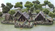28MM ANCIENT or DARK AGE VILLAGE - 'PAINTED TO COLLECTORS STANDARD'