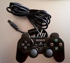 OFFICIAL SONY PLAYSTATION 2 PS2 BLACK DUAL SHOCK OEM GAME CONTROLLER SCPH-10010