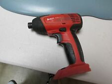 "Hilti SID 121-A  CORDLESS 1/4"" IMPACT screw gun bare tool only  used(77)"