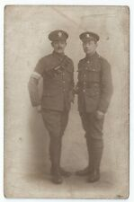 WW1 RESS Royal Engineers Signal Service & Cheshire Regiment Lewis Gunner RP PC