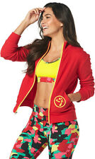 Zumba One Love Zip Up Cardigan Jacket Medium NEW  Red