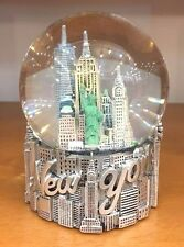 80 mm New York City Snow Globe, Brooklyn Bridge, Statue of Liberty, NYC Souvenir