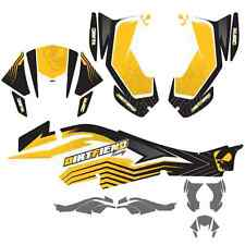 DFR FACTION GRAPHIC KIT YELLOW SIDES/FENDERS CAN-AM DS450 DS 450
