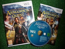 NINTENDO Wii LOTR GAME THE LORD OF THE RINGS ARAGORN'S QUEST +BOX INST' COMPLETE