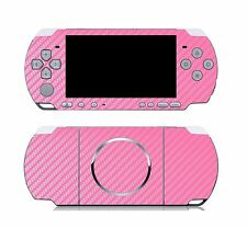 Pink Carbon Fiber Vinyl Decal Skin Sticker Cover for Sony PSP 3000