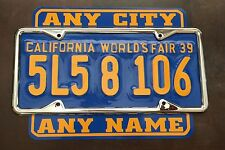 California. License Plate Topper / Rocker 1939 Chevy Buick Pontiac Oldsmobile