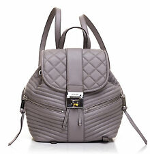 MICHAEL KORS ELISA PEARL GREY SM BACK PACK LEATHER RUCKSACK GRAU LEDER TASCHE