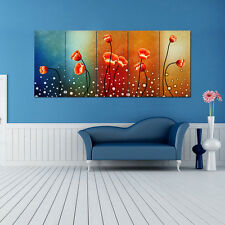Ready To Hang Large 5 Panels Flowers Modern HD Canvas Prints Wall Art Paintings