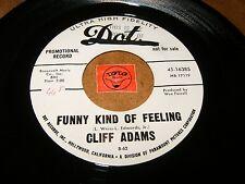 CLIFF ADAMS - FUNNY KIND OF FEELING - KEEP OFF MY   / LISTEN - ROCK TEEN POPCORN