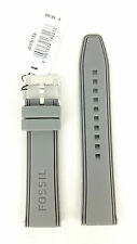 Fossil Grey Rubber Watch Strap 22mm Watch Band Replacement AMS159 WatchStrap