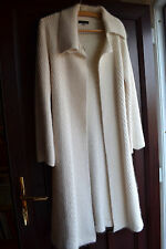 Coast cream angora wool long cardigan jacket coat size S