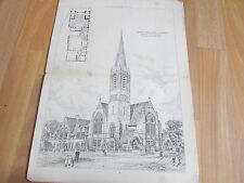 CHAPEL & SCHOOLS St Marys Road MANNINGHAM 1887 Image / Plan from BUILDING News