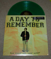 "A DAY TO REMEMBER 12"" GREEN Vinyl LP FOR THOSE WHO HAVE HEART + DL record album"