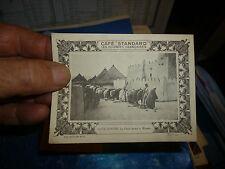 Ancienne Image d'album du Café Standard COTE d'IVOIRE Prière devant la  Mosqué