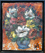"Henri D'Anty ""Fleurs"" Oil on Canvas Signed 1956"