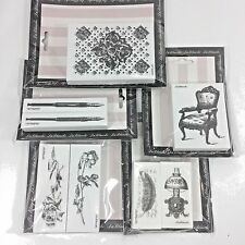 LaBlanche Foam Rubber Victorian Chair Lamp FountaIn Pen Steampunk Stamp Lot