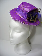 Purple Mini Hat on Headband Gold Stars Deluxe Halloween Hat New