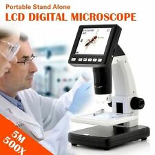 "AU 3.5"" LCD 500X Desktop Digital Microscope 5MP HD USB TV Video Camera Recorder"