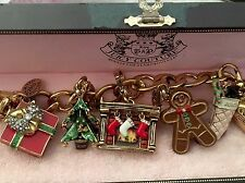 Juicy Couture Christmas Theme Charm Bracelet  with 5 Limited Edition Charms