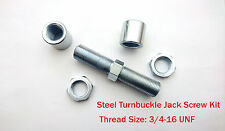 Steel Double Adjuster, 3/4-16 UNF Thread 4.04 Inch Length Rod End JACK SCREW