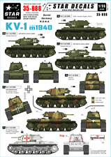 Star Decals 35-888.Decals for KV-1 model/1940. Soviet, Germany, RONA