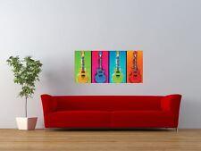 Guitarras Pop Art Warhol Estilo Color Gigante impresión arte cartel del panel nor0101