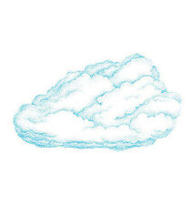 25 New Large Cloud Wallies Fluffy White Clouds Sky Wall Border Stickers Mural