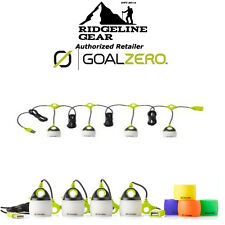 GOAL ZERO Light-A-Life Mini LED QUAD Set Lanterns w/Color Shades