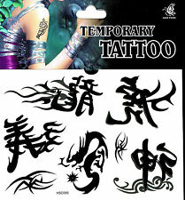 Fake Tattoo 1 Bogen asiatische Schriftzeichen Tattoo einmal Tattoo, tatoo tatto