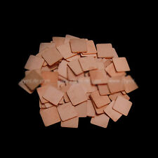10x 15mm*15mm*1.0mm Heatsink Copper Shim Thermal Pads For HP V3000 DV2000