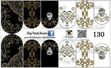 #130 Slider design for nail art (decal stickers for gel polish, acrylic)