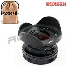 """8mm F/3.8 MFT mount Fisheye CCTV Lens Body for 4/3"""" M4/3 Adapter GH4 OM-D E-M1"""